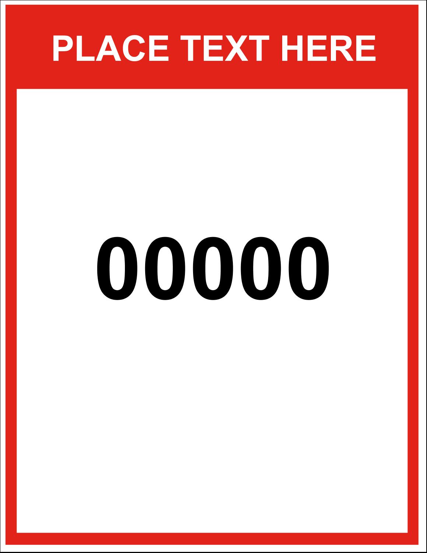"8½"" x 11"" ID Label - Bin Numbers"