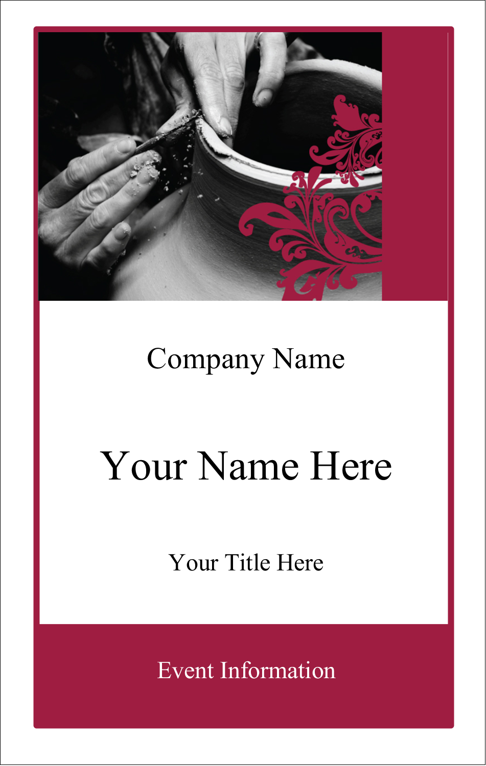 3½ x 2¼ Name Tags - Black and Red Art