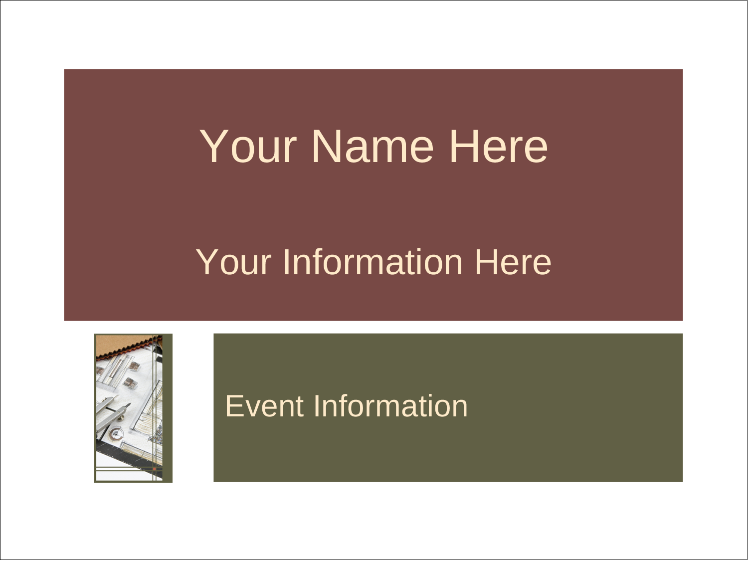 """4"""" x 3"""" Name Tags - Arch 1"""