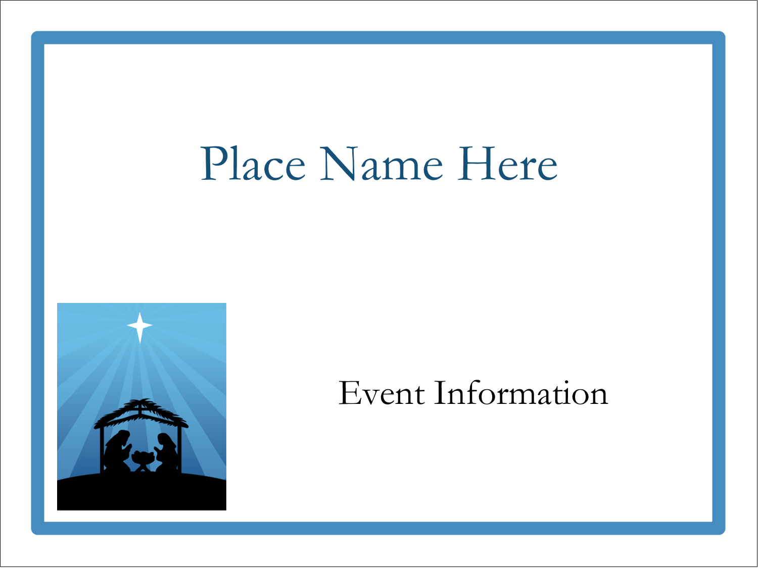"""3"""" x 4"""" Name Tags - Baby Manger"""