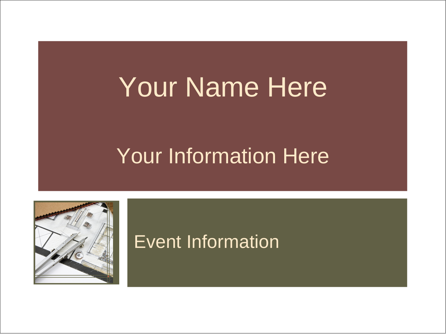 """3"""" x 4"""" Name Tags - Arch 1"""