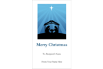 Add Christmas symbolism to your custom project with pre-designed Baby Manger templates.