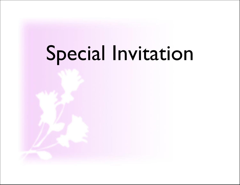 "5½"" x 4¼"" Note Card - Three Flowers"