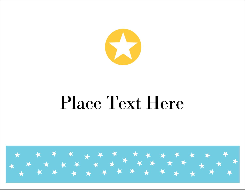 "5½"" x 4¼"" Note Card - Blue Yellow Stars"