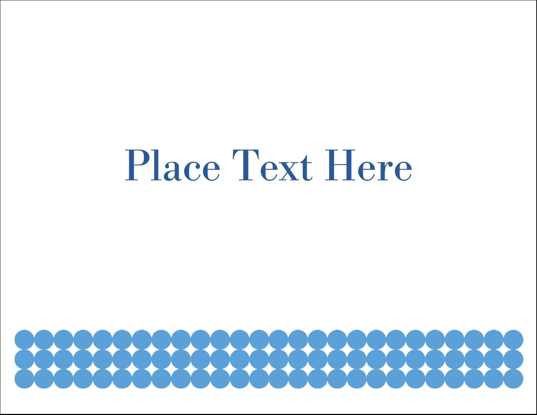 "5½"" x 4¼"" Note Card - Blue Circles"