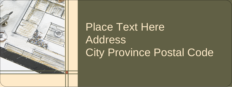 """⅔"""" x 1¾"""" Address Label - Arch 1"""