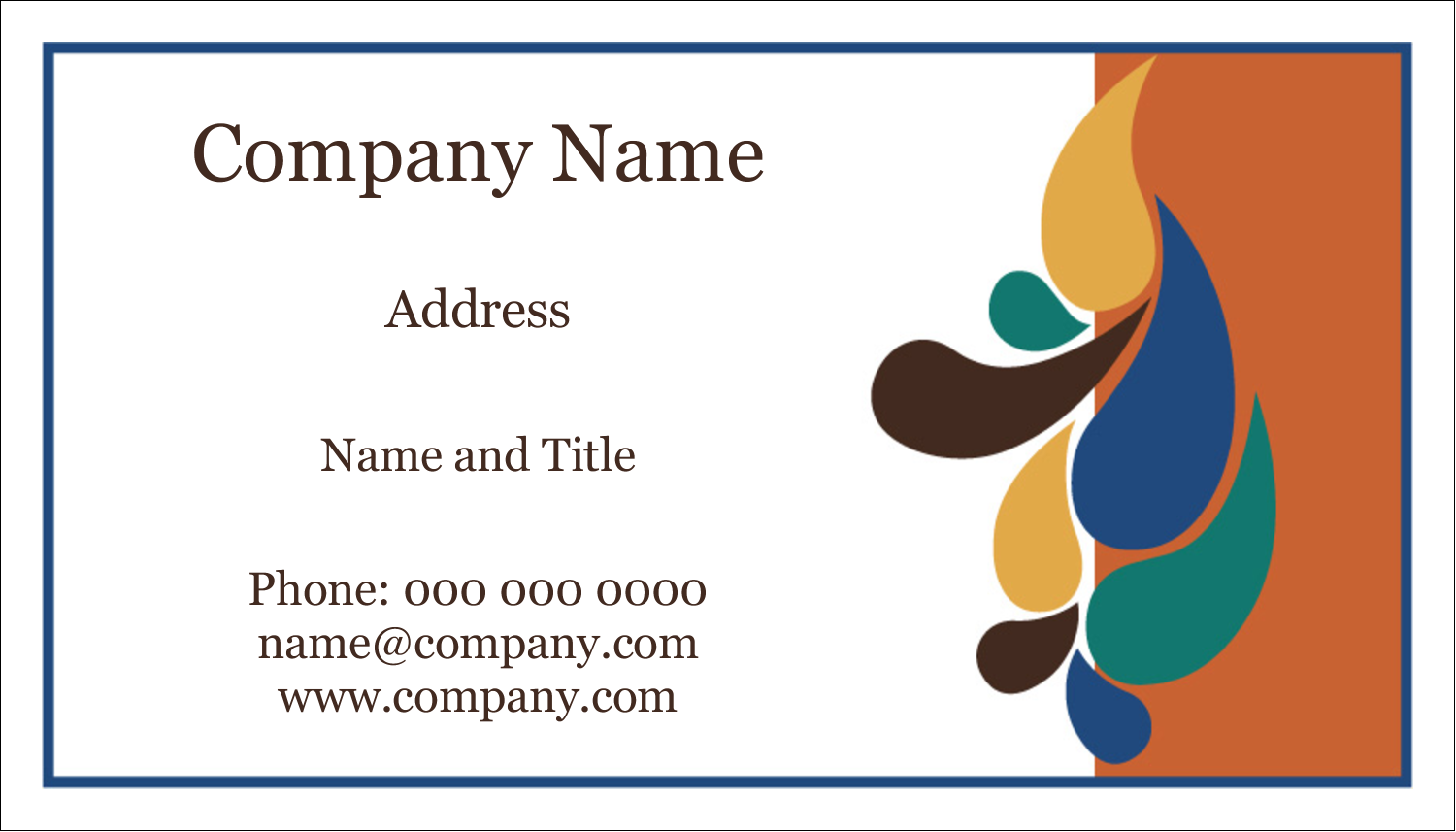 "2"" x 3½"" Business Card - Modern Paintbrushes in Natural Tones"