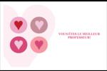 Cœurs encerclés Cartes Et Articles D'Artisanat Imprimables - gabarit prédéfini. <br/>Utilisez notre logiciel Avery Design & Print Online pour personnaliser facilement la conception.