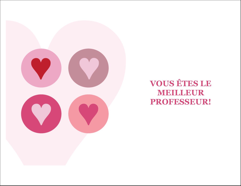 """8½"""" x 11"""" Cartes Et Articles D'Artisanat Imprimables - Cœurs encerclés"""