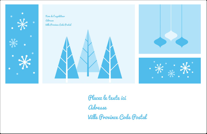 """1½"""" x 4"""" Étiquettes d'adresse - Les gabarits Pays des merveilles hivernales rétro pour votre prochain projet créatif"""