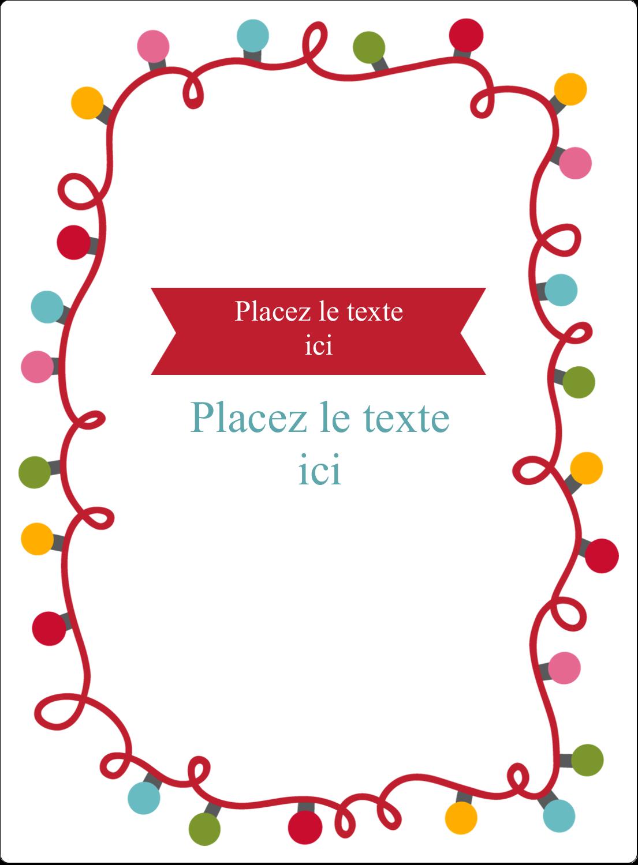 """2½"""" Diameter Étiquettes rondes - Les gabarits Lumières de Noël pour votre prochain projet des Fêtes"""