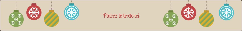 """1½"""" x 2½"""" Étiquettes ovales - Les gabarits Boules décoratives artisanales pour votre prochain projet des Fêtes"""