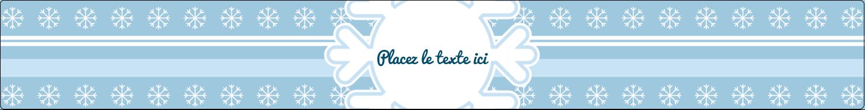 """1½"""" x 2½"""" Étiquettes ovales - Les gabarits Flocon de neige bleu pour votre prochain projet des Fêtes"""