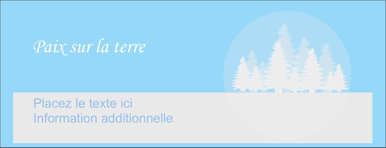 """1-7/16"""" x 3¾"""" Affichette - Forêt bleue"""