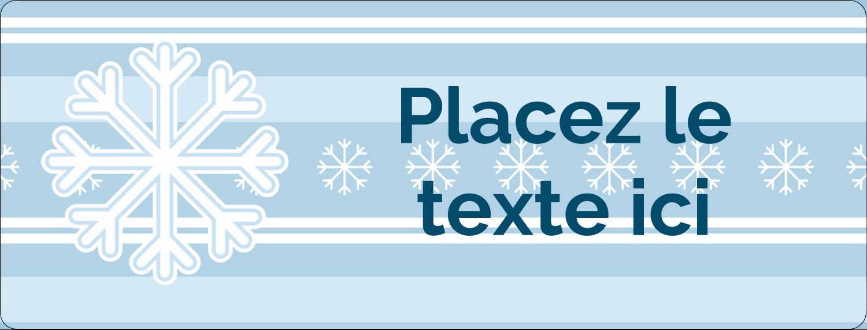 """½"""" x 1¾"""" Étiquettes D'Adresse - Les gabarits Flocon de neige bleu pour votre prochain projet des Fêtes"""