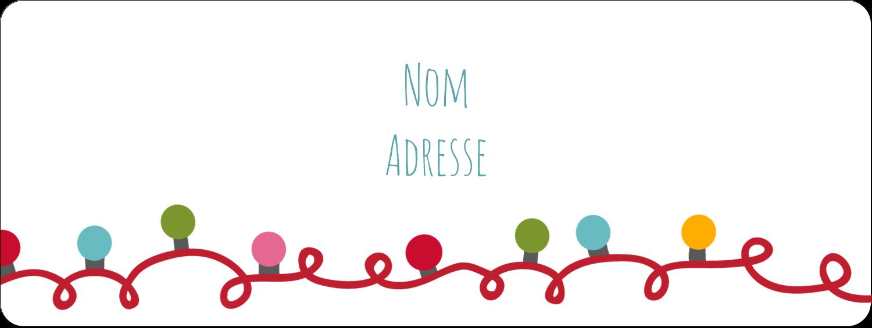 """⅔"""" x 1¾"""" Étiquettes D'Adresse - Les gabarits Lumières de Noël pour votre prochain projet des Fêtes"""
