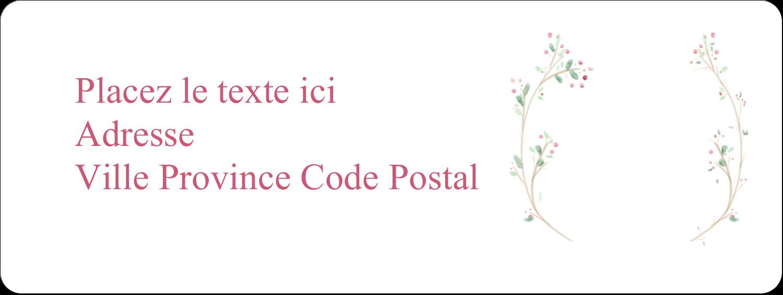 """⅔"""" x 1¾"""" Étiquettes D'Adresse - Les gabarits Paix, amour et joie pour votre prochain projet créatif des Fêtes"""
