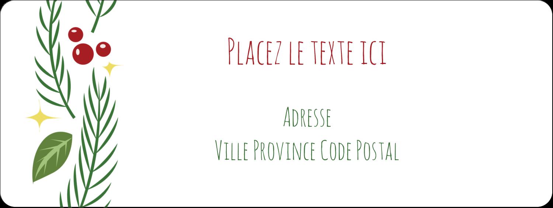 """⅔"""" x 1¾"""" Étiquettes D'Adresse - Les gabarits Guirlande pour votre prochain projet des Fêtes"""