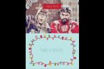 Les gabarits Lumières de Noël pour votre prochain projet des Fêtes Carte Postale - gabarit prédéfini. <br/>Utilisez notre logiciel Avery Design & Print Online pour personnaliser facilement la conception.
