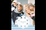 Les gabarits Flocon de neige bleu pour votre prochain projet des Fêtes Carte Postale - gabarit prédéfini. <br/>Utilisez notre logiciel Avery Design & Print Online pour personnaliser facilement la conception.