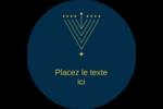 Hanoukka HanouNoël Étiquettes rondes - gabarit prédéfini. <br/>Utilisez notre logiciel Avery Design & Print Online pour personnaliser facilement la conception.
