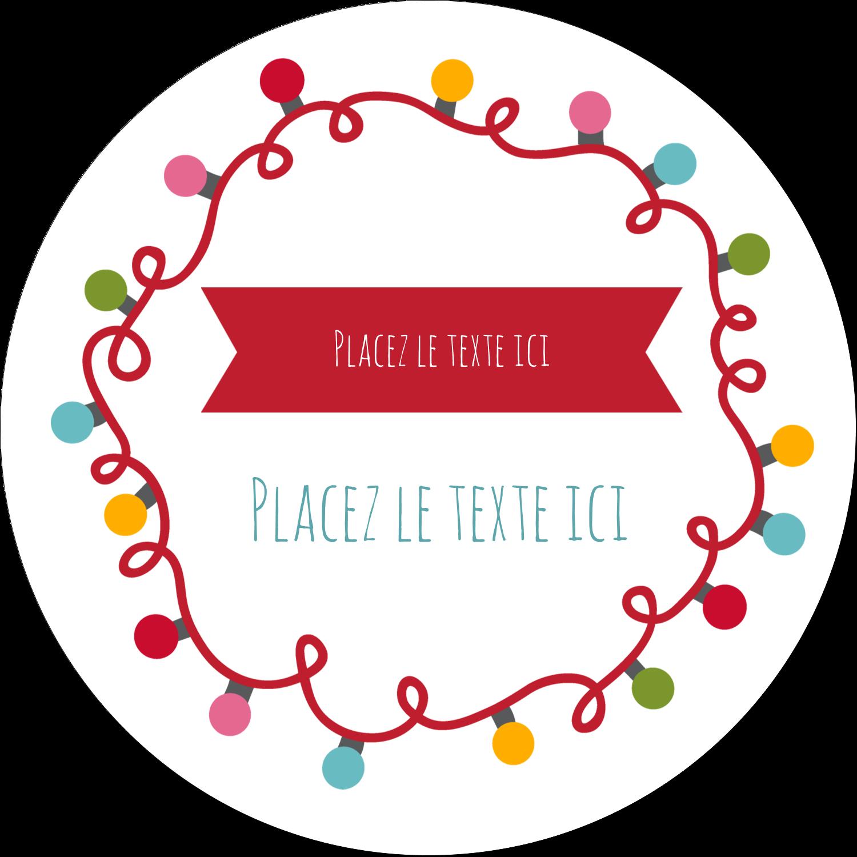 """3"""" Diameter Étiquettes rondes - Les gabarits Lumières de Noël pour votre prochain projet des Fêtes"""