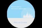 Forêt bleue Étiquettes rondes - gabarit prédéfini. <br/>Utilisez notre logiciel Avery Design & Print Online pour personnaliser facilement la conception.