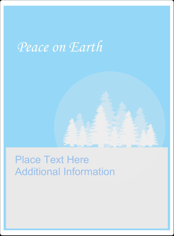 "4¾"" x 3½"" Rectangular Label - Blue Forest"