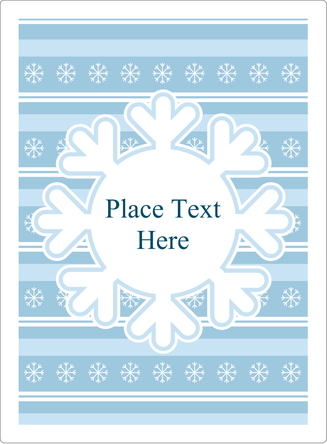"4¾"" x 3½"" Rectangular Label - Blue Snowflake"