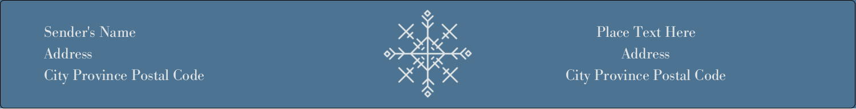 """9¾"""" x 1¼"""" Wraparound Label - Snowflakes"""