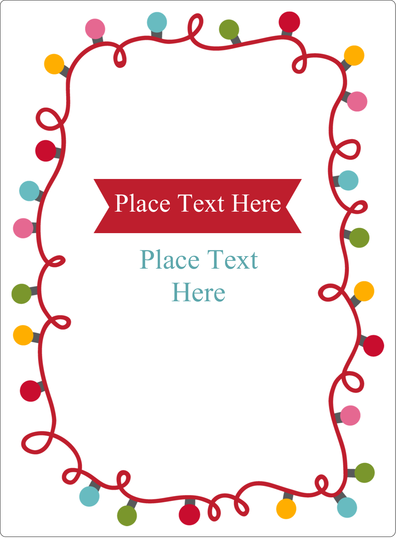 "4¾"" x 3½"" Rectangular Label - Holiday Lights"