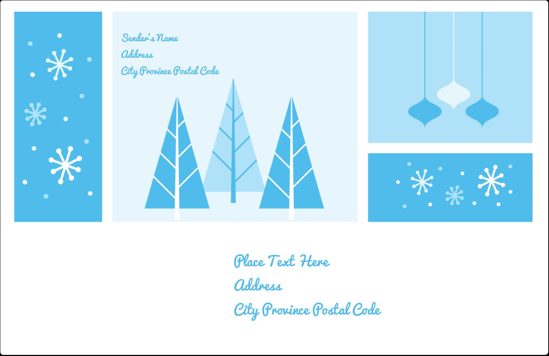 "5½"" x 8½"" Shipping Label - Retro Winter Wonderland"