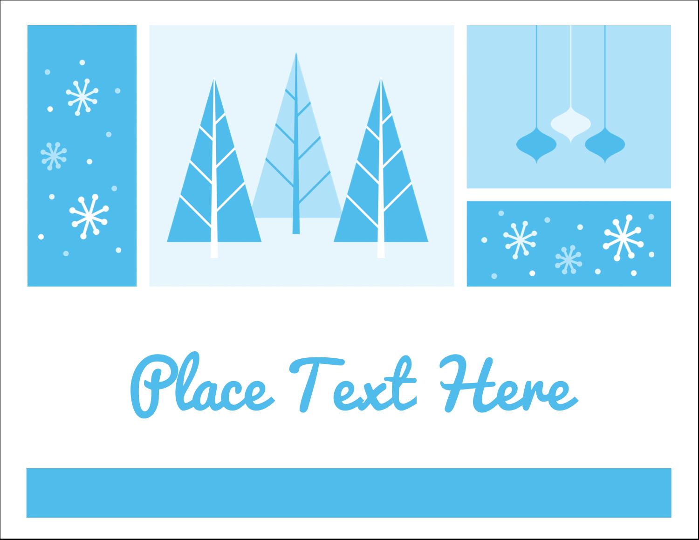 """5½"""" x 4¼"""" Note Card - Retro Winter Wonderland"""
