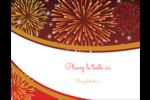 Feux d'artifice rouges du Nouvel An Carte Postale - gabarit prédéfini. <br/>Utilisez notre logiciel Avery Design & Print Online pour personnaliser facilement la conception.
