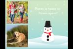 Petit bonhomme de neige Carte Postale - gabarit prédéfini. <br/>Utilisez notre logiciel Avery Design & Print Online pour personnaliser facilement la conception.