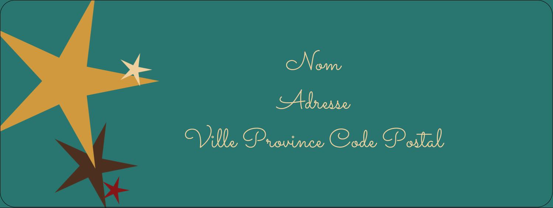 """⅔"""" x 1¾"""" Étiquettes D'Adresse - Étoiles du Nouvel An"""