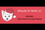 Chat de Noël Étiquettes D'Adresse - gabarit prédéfini. <br/>Utilisez notre logiciel Avery Design & Print Online pour personnaliser facilement la conception.