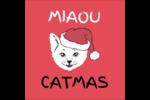 Chat de Noël Étiquettes rondes - gabarit prédéfini. <br/>Utilisez notre logiciel Avery Design & Print Online pour personnaliser facilement la conception.