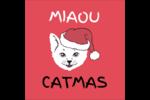 Chat de Noël Étiquettes carrées - gabarit prédéfini. <br/>Utilisez notre logiciel Avery Design & Print Online pour personnaliser facilement la conception.