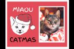 Chat de Noël Cartes Et Articles D'Artisanat Imprimables - gabarit prédéfini. <br/>Utilisez notre logiciel Avery Design & Print Online pour personnaliser facilement la conception.