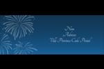 Feux d'artifice bleus du Nouvel An Étiquettes D'Adresse - gabarit prédéfini. <br/>Utilisez notre logiciel Avery Design & Print Online pour personnaliser facilement la conception.