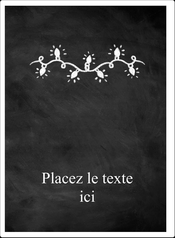"""2½"""" Diameter Étiquettes rondes - Lumières sur tableau noir"""