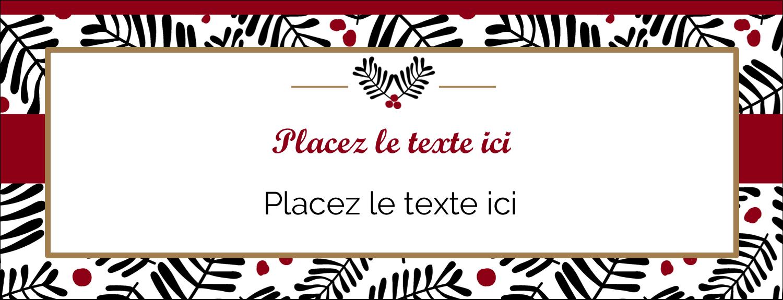 "1-7/16"" x 3¾"" Affichette - Fleurs de Noël"