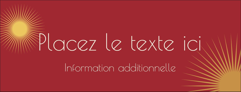 """1-7/16"""" x 3¾"""" Affichette - Soleils du Nouvel An"""