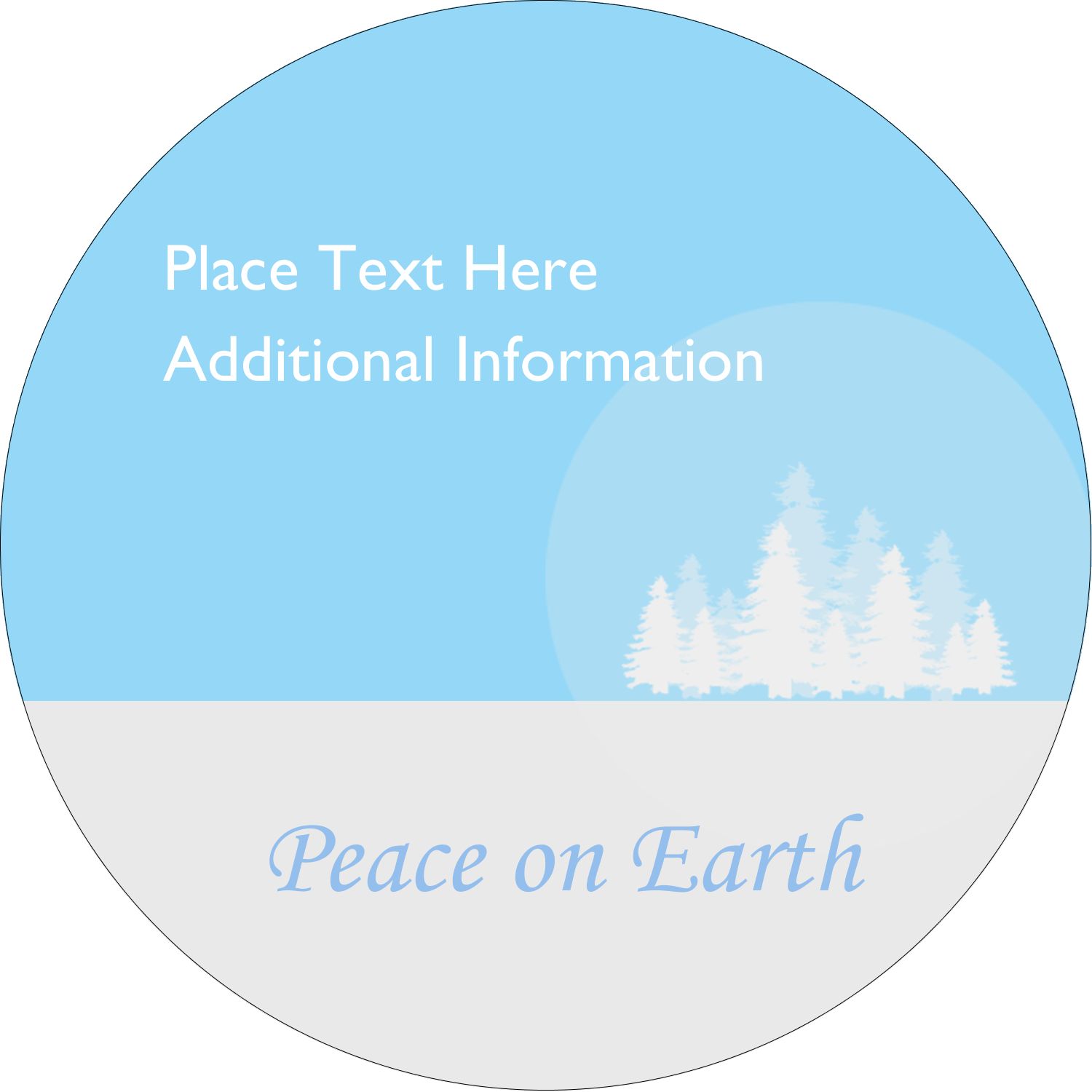 "3"" Round Label - Blue Forest"