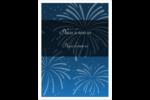 Feux d'artifice bleus du Nouvel An Étiquettes rondes - gabarit prédéfini. <br/>Utilisez notre logiciel Avery Design & Print Online pour personnaliser facilement la conception.