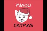 Chat de Noël Étiquettes rondes gaufrées - gabarit prédéfini. <br/>Utilisez notre logiciel Avery Design & Print Online pour personnaliser facilement la conception.