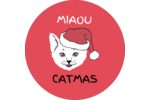 Chat de Noël Étiquettes Voyantes - gabarit prédéfini. <br/>Utilisez notre logiciel Avery Design & Print Online pour personnaliser facilement la conception.