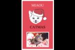 Chat de Noël Reliures - gabarit prédéfini. <br/>Utilisez notre logiciel Avery Design & Print Online pour personnaliser facilement la conception.