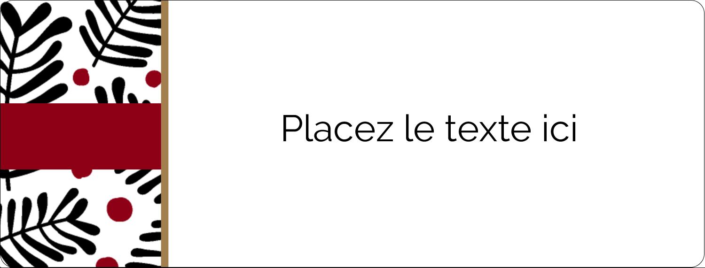 """1"""" x 4"""" Étiquettes D'Adresse - Fleurs de Noël"""